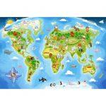 Παζλ με 40 Maxi Μεγάλα Κομμάτια Extra Big για 4 ετών+ World Map B-040117 Castorland-b