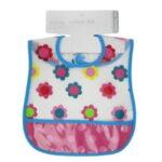Σαλιάρα πλαστική για κορίτσι S811 Nursery Time-blue