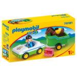 Σειρά 123 Όχημα με τρέιλερ μεταφοράς αλόγου 70181 Playmobil