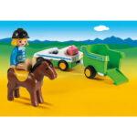 Σειρά 123 Όχημα με τρέιλερ μεταφοράς αλόγου 70181 Playmobil-3