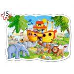 2 Παζλ με 9 και 15 κομμάτια Extra Big για 3 ετών κι άνω Noah's Ark B-020089 Castorland-3