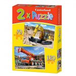 2 Puzzles – Digger and fire truck