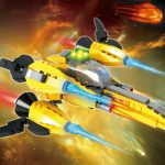 4-b401 Space Spacecraft Toy Building Block Set – 164 Pieces