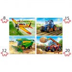 Agricultural Machines-4×Puzzle 8+12+15+20-b