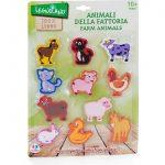 Globo 36656 Legnoland Giocattoli di Legno Animali della Fattoria (Pezzi)