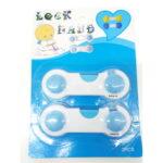Σετ 2 αυτοκόλλητες ασφλαλειες συρταριών για μωρά