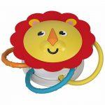 Στριφογυριστρούλι Κουδουνίστρα-Μαγνήτης Λιοντάρι 3+ μηνών FVF43 Fisher Price-δ