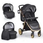 CAngarooMoni-Set-Stroller-NOBLE-3PCS-Black