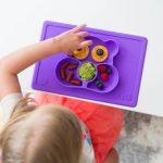 Ezpz Δίσκος Και Πιάτο Σε Ένα Care Bear Mat Purple-3