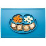 Ezpz Δίσκος και πιάτο σε ένα Happy mat in Blue-β