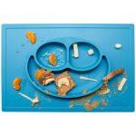 Ezpz Δίσκος και πιάτο σε ένα Happy mat in Blue-ε