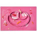 Ezpz Δίσκος και πιάτο σε ένα Happy mat in Pink3