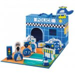 Foldable Police station 13 pieces-b
