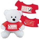 Αρκουδάκι με μπλούζα Ολυμπιακός 23cm