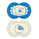 Πιπίλα Night Σιλικόνης 6-16 μηνών-blue2
