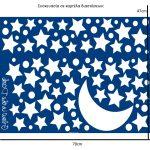 Φωσφορούχα Αυτοκόλλητα Starry Night Large 18109 Home Decor