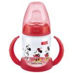 Ποτηράκι-Μπιμπερό First Choice 150ml Mickey-Minnie Nuk-κοκκινο
