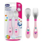 Σετ Πιρούνι & Κουτάλι με σχέδια 01610210 Chicco-pink4