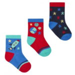 BABY BOYS 3 PACK COTTON RICH SPACE