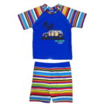 Jakabel T-shirt and shorts with 50 + UVP protection Blue Multi Stripe