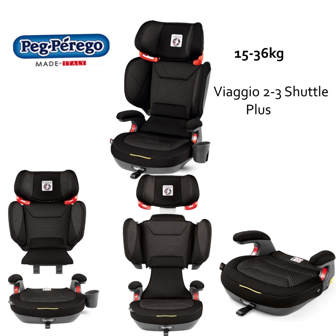 Παιδικό Κάθισμα Αυτοκινήτου Viaggio 2-3 Shuttle Plus Graphite Peg-Perego-8
