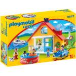 Σειρά 1.2.3 Εξοχικό Σπίτι με βάρκα & αυτοκίνητο 1,5 ετών+ 9527 Playmobil