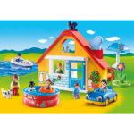 Σειρά 1.2.3 Εξοχικό Σπίτι με βάρκα & αυτοκίνητο 1,5 ετών+ 9527 Playmobil-2