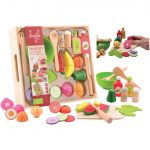 Saladset in wooden tray-80069